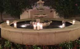 Fountain and candlelight