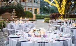 Guest Tables with Clear Chiavari Chairs