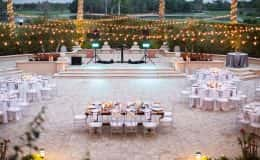 Wedding Reception with Bistro Lighting