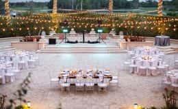 Wedding Reception with Bistro Lighting
