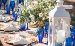 Country chic tablescape