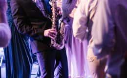 saxophonist at reception