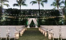 Romantic Wedding Ceremony at Dusk