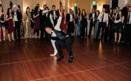 Groomsman busting a move
