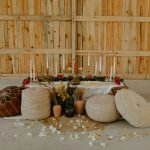 barn wedding reception sweetheart table