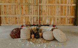 Barn wedding Boho chic style sweetheart table