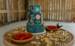 Spanish inspired boho chic wedding cake
