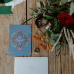 Wedding announcement we eloped with bouquet
